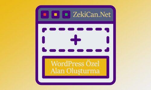 Wordpress özel alan oluşturma.