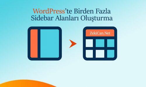 WordPress te birden fazla sidebar alanları oluşturma